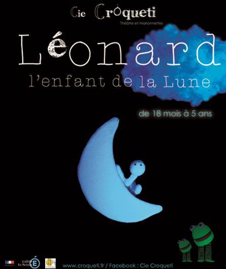 Léonard L'enfant de la lune, spectacle 1-5 ans - programmation Art Dû Théâtre 13006 Marseille