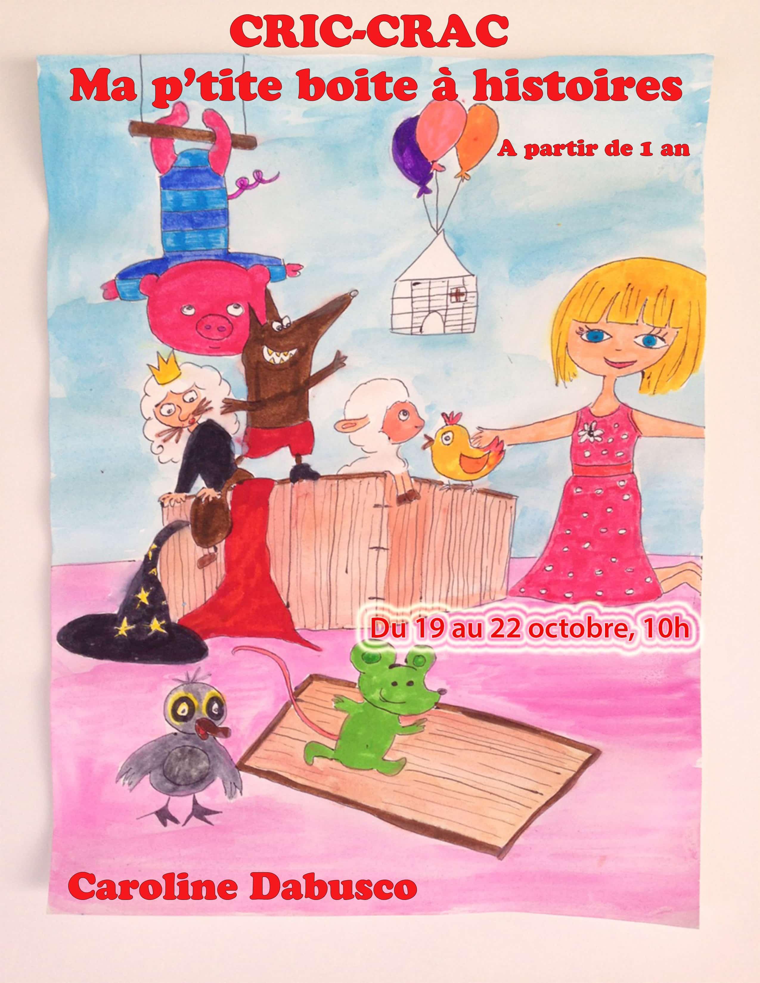 Cric crac ma boite à histoire - spectacle enfant - marseille - 13006 - Art Dû - Théâtre