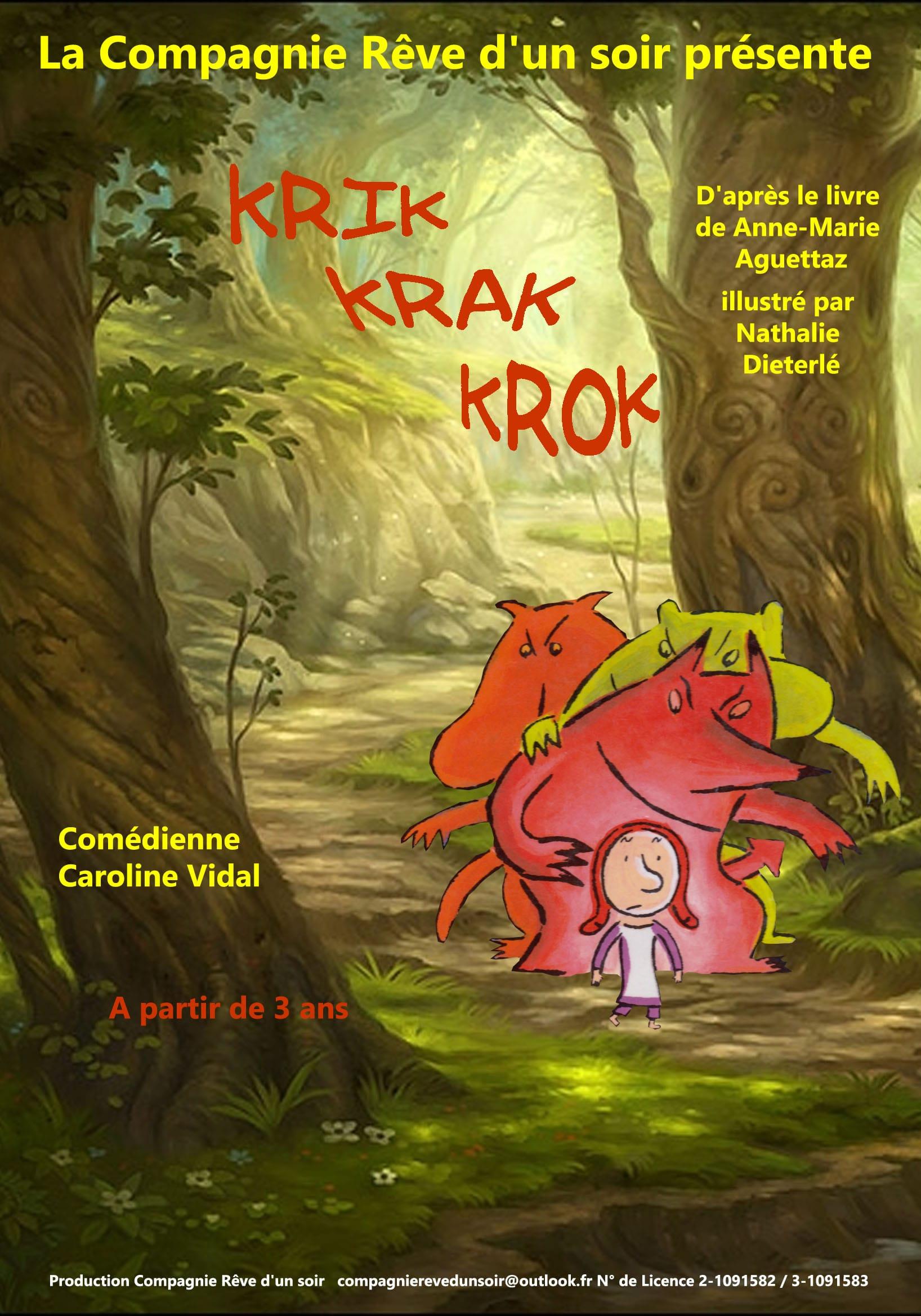 Krik krak krok - théâtre Marseille - 13006 - L'Art Dû - spectacle enfant