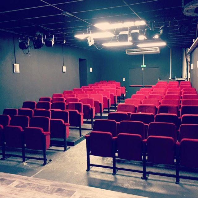 La devanture magnifique du théâtre de L'art dû