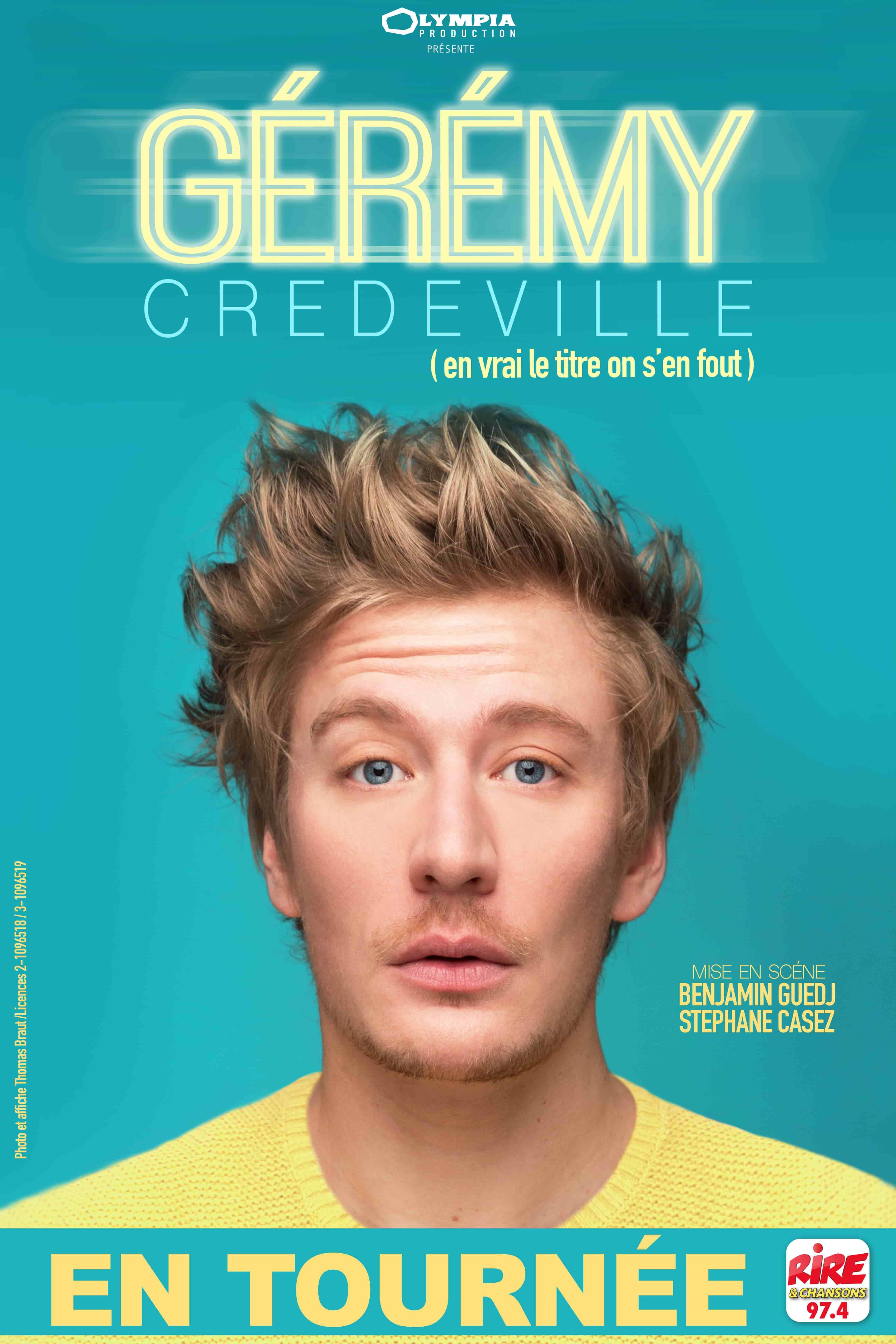 Gérémy Credeville - One man show - Humour - Marseille - Théâtre - L'Art Dû - 13006