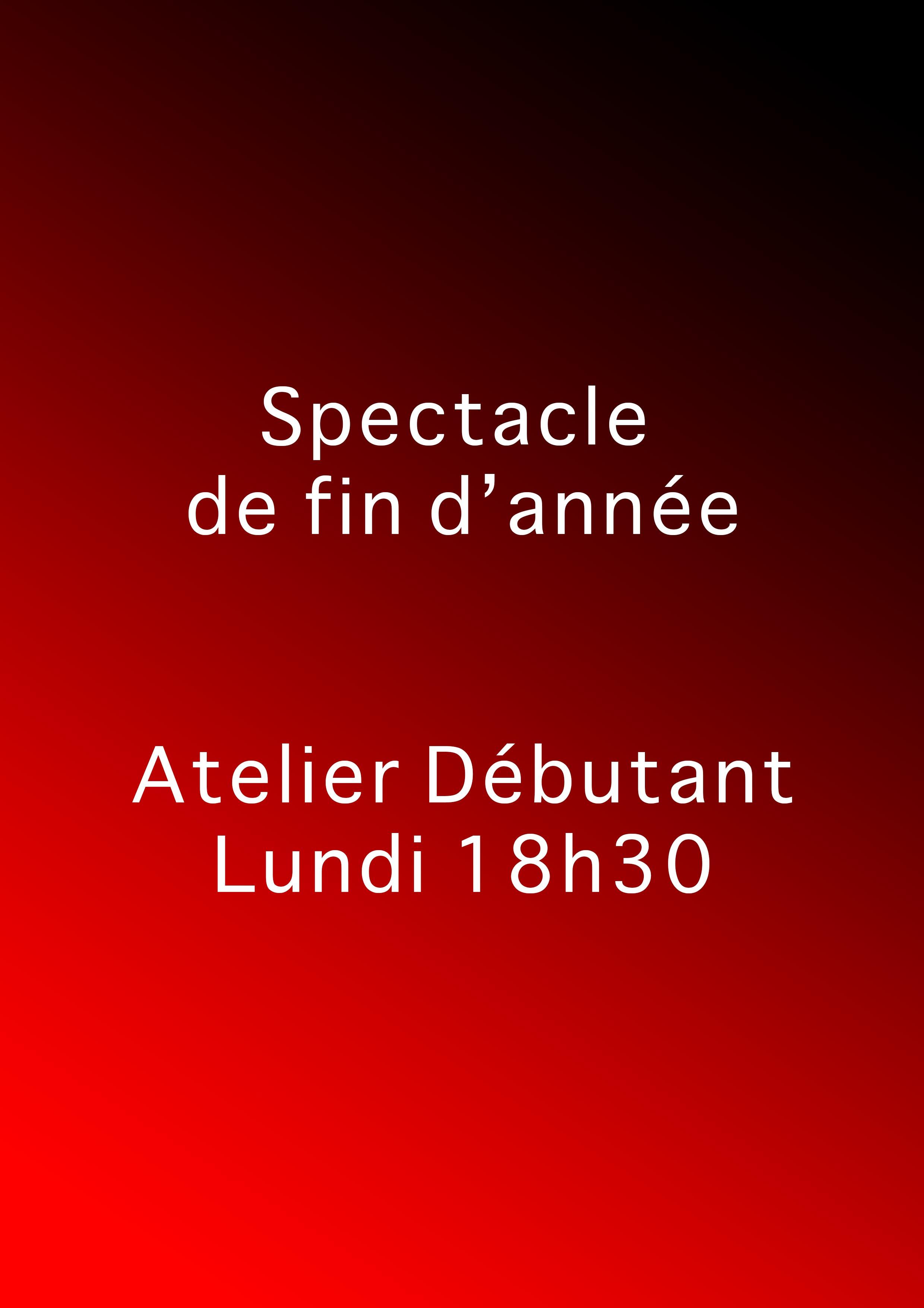 Debutant Lundi - Atelier Théâtre - Marseille - L'Art Dû