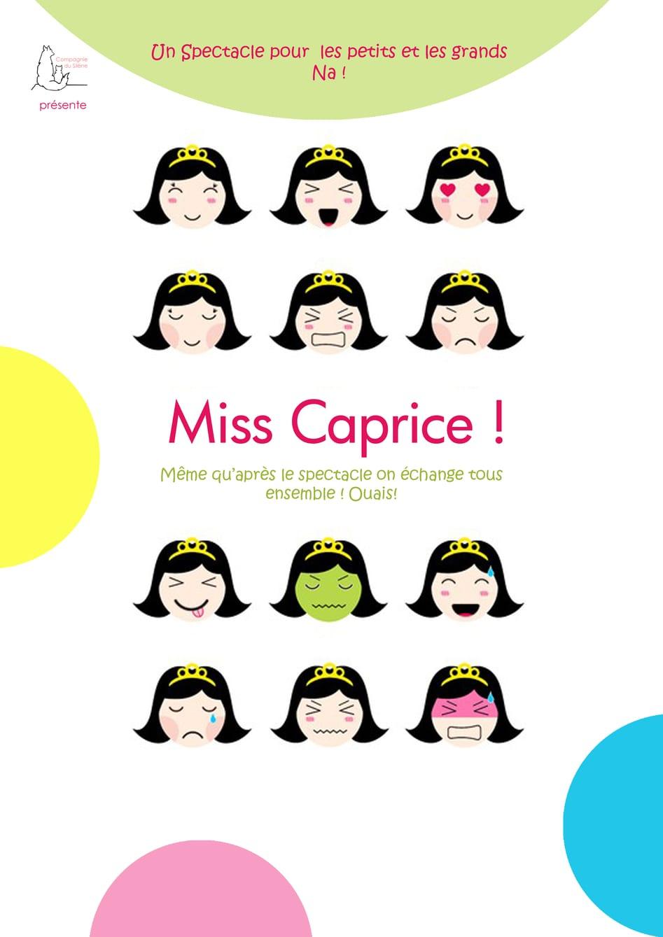 Miss Caprice - Compagnie du Silène - Jeune Public - Spetacle - Educatif - Marseille - L'Art Dû - 13006